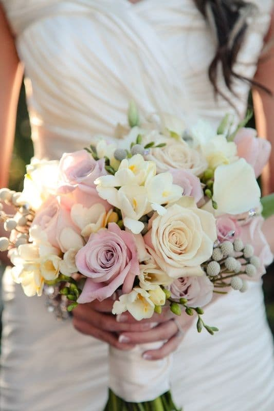 Bouquet de novia en tonos pastel