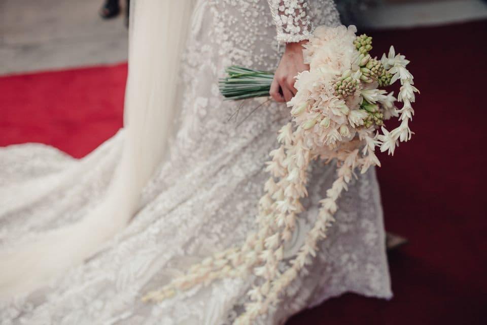 Ramo de novia de invierno con nardos