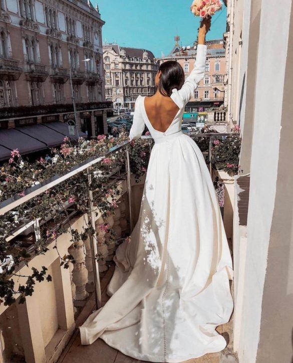 Vestido de novia corte en A de Millanova