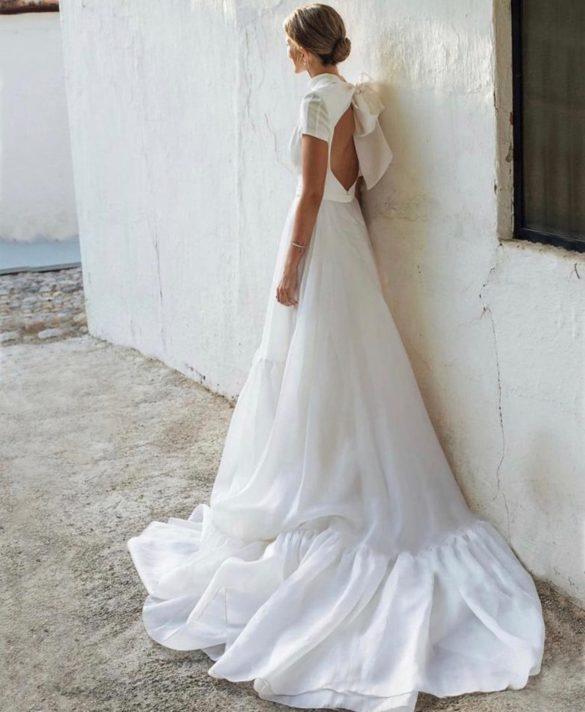 Vestido de novia de corte en A de Fernando Claro Couture