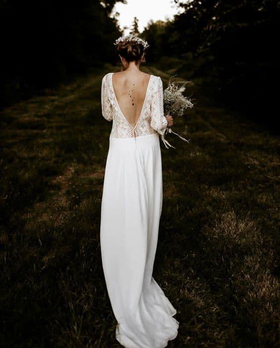Vestido de novia de corte recto de Laure de Sagazan