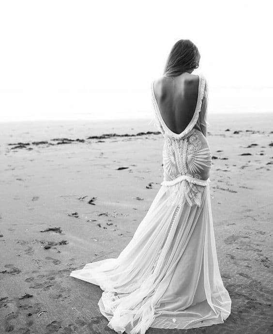 Vestido de novia de corte sirena de Rue de Seine