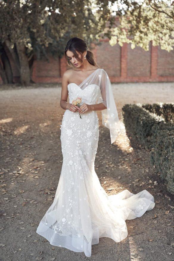 Vestido de novia de corte sirena de Anna Campbell