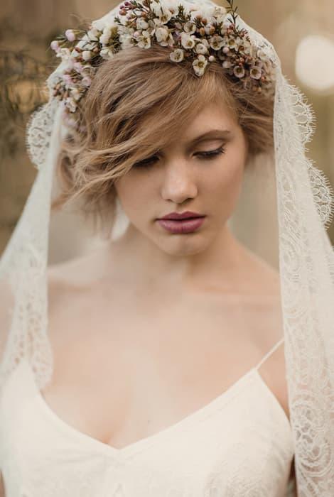 formas originales de llevar un velo de novia