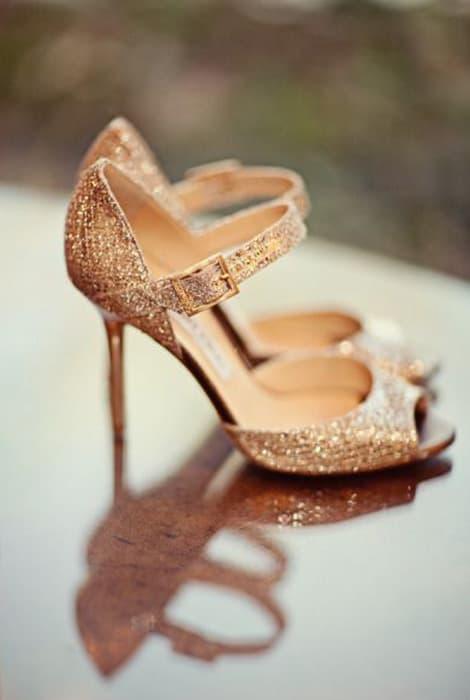 Zapatos glitter para novia