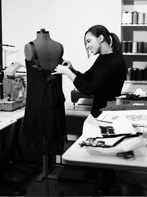 Alicia Rueda en su atelier