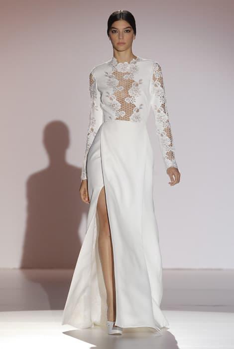 Juana Martín, vestido de novia blanco con encaje