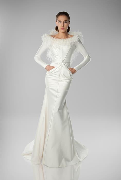 Isabel Zapardiez, vestido de novia escote barco