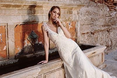 """Vestido de María Salas, colección novia 2020 """"magia"""""""