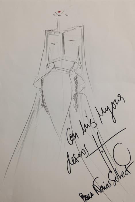 Boceto realizado por Roberto Diz para Novias Select