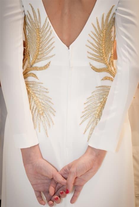 Roberto Diz, vestido de novia, detalle de espalda