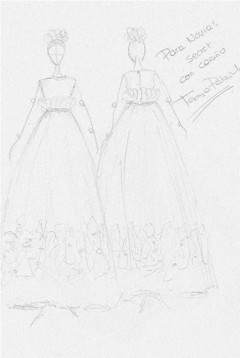 Diseño realizado para Novias Select por Teresa Palazuelo
