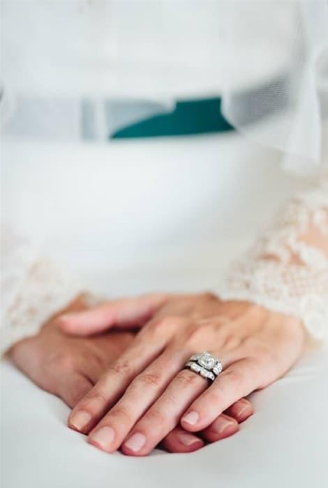 Manicura para novias, brillo natural