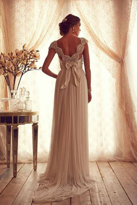 Tipo de cola de un vestido de novia