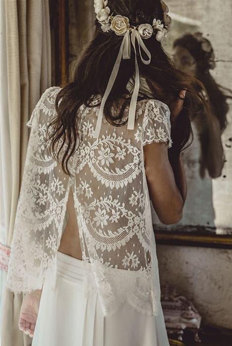 Vestido dos piezas para novia de Laure de Sagazan