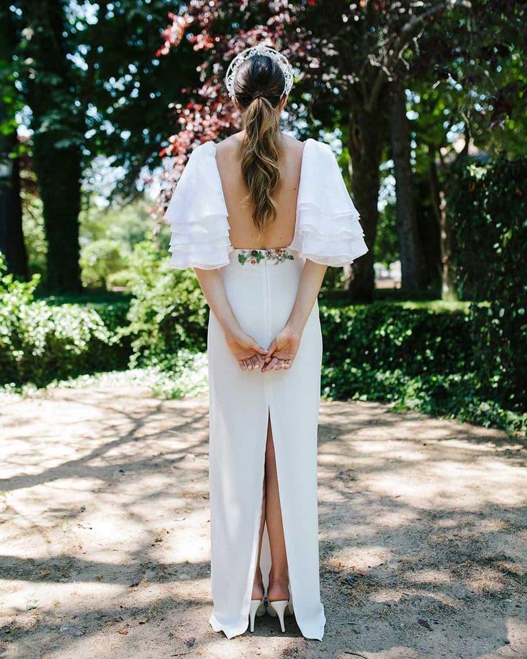 Conjunto de top y falda para novias de Beba's