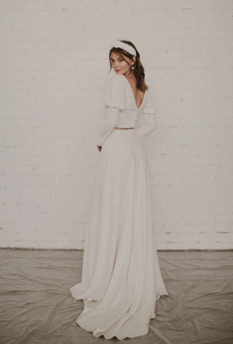Conjunto de top y falda para novia de Otaduy