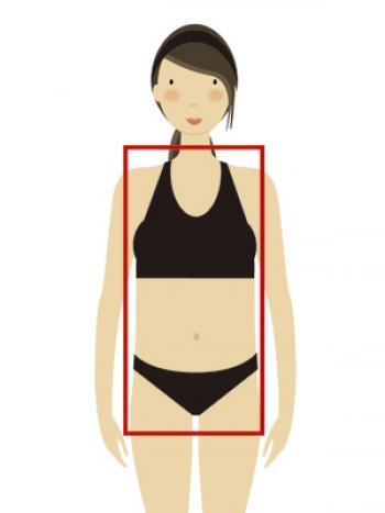 Tipos de silueta femenina: cilindro o rectangular