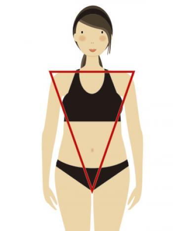 Tipos de silueta femenina: campana invertida
