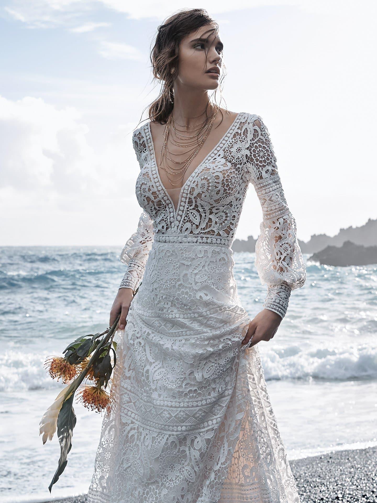 Vestido de novia de manga larga de Sottero&Midgley