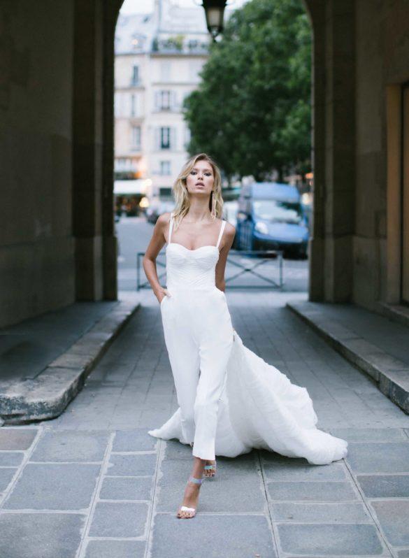 Trajes de novia con pantalones Rime Arodaky