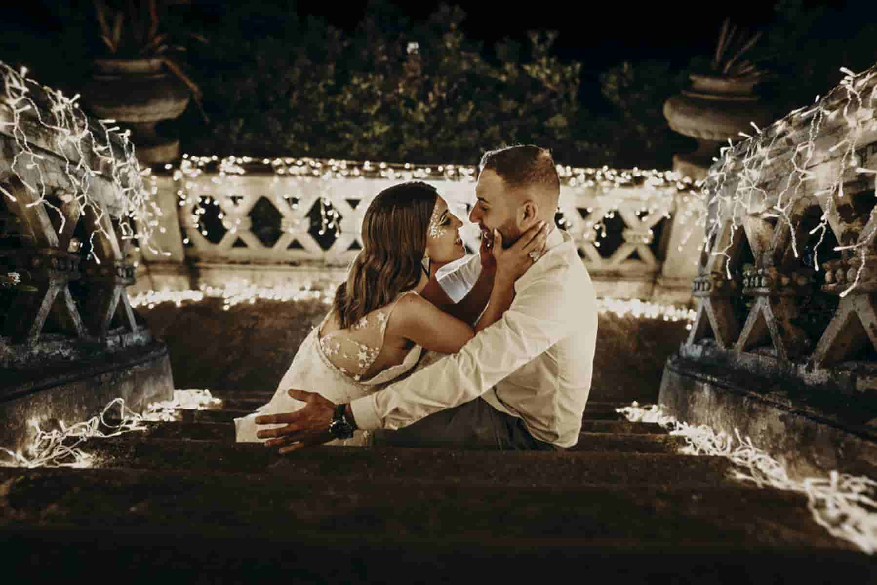 Iluminación boda en Baiona