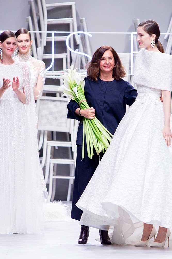 Mercedes Segarra diseñadora de Jesús Peiró cierra desfile VBBFW 2019