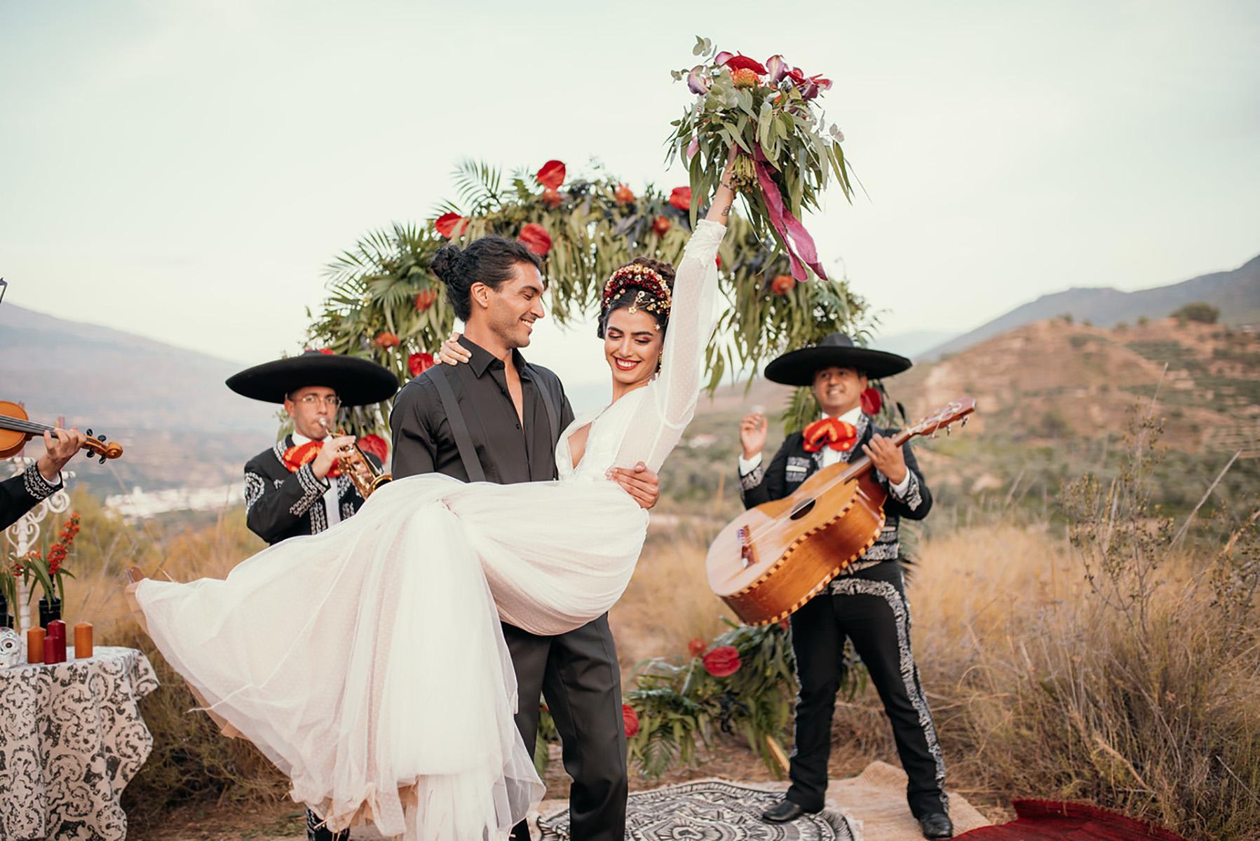 Editorial novias de estilo mexicano