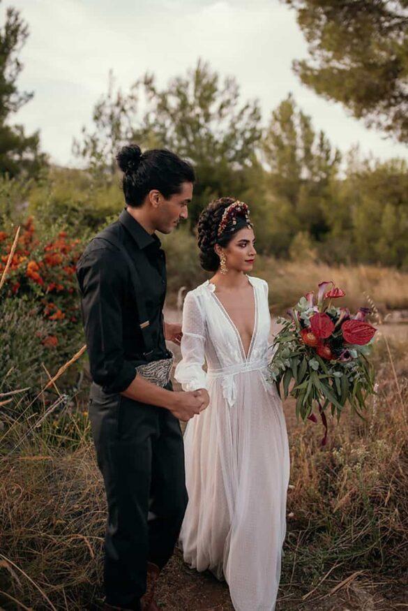 Inspiración para una novia de estilo mexicano