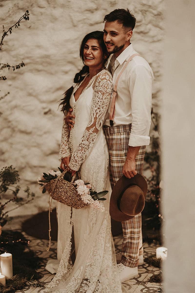 Inspiración para una boda bohemia e íntima