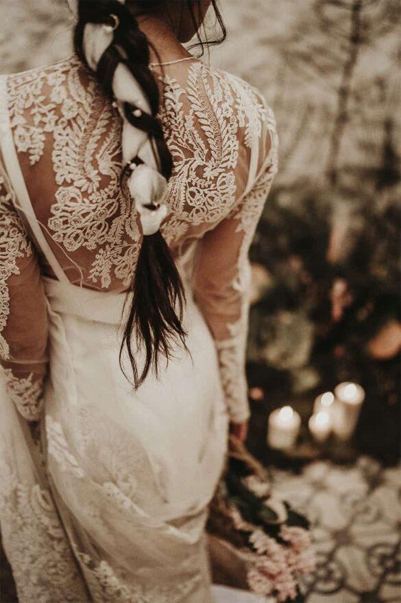 Peinado de novia con trenzas