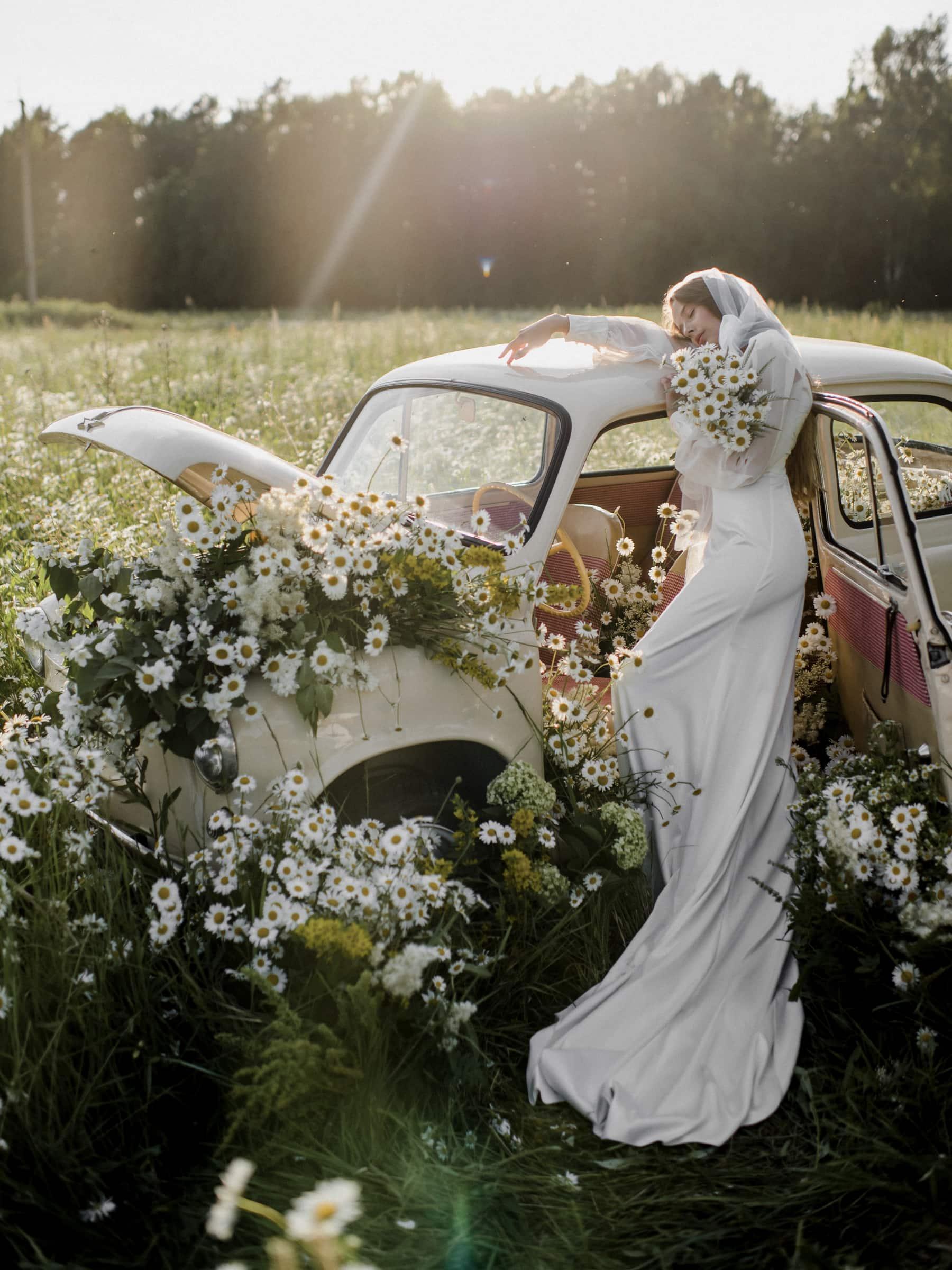 Vestido de novia para una boda campestre