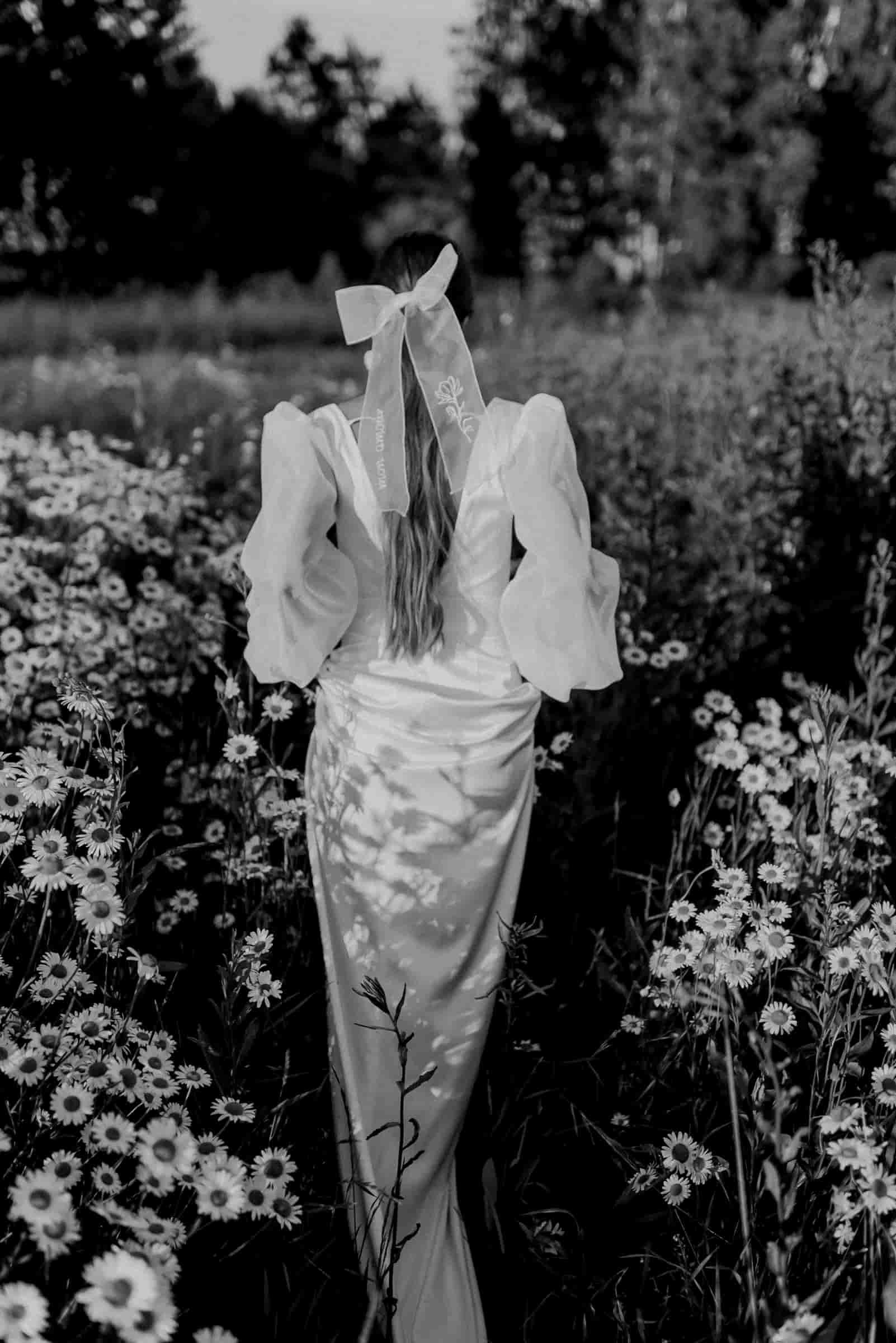 Inspiración vestido de novia boda campestre