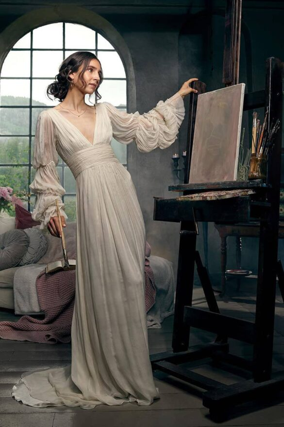 Leila Hafzi vestido de novia 2021