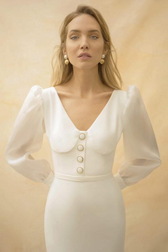 Vestido de novia Nicolás Montenegro colección 2021
