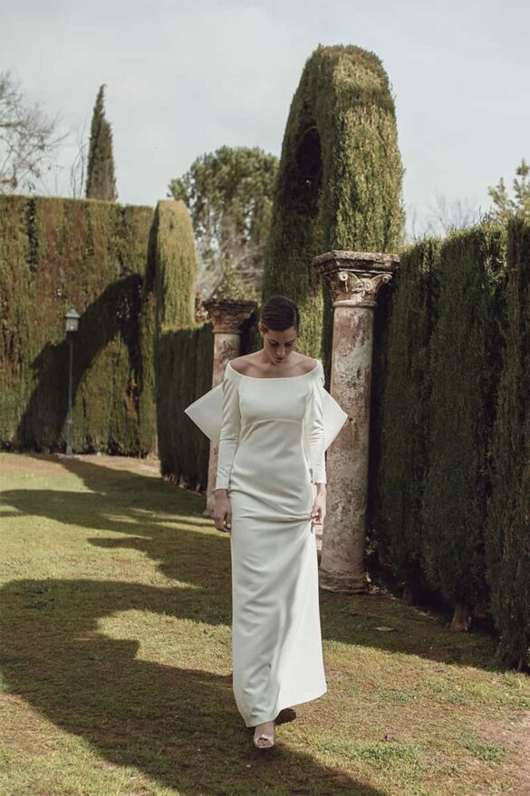 Vestido de novia con lazo en la espalda