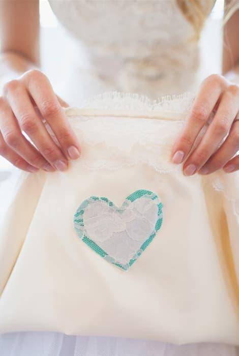 Algo azul en un vestido de novia