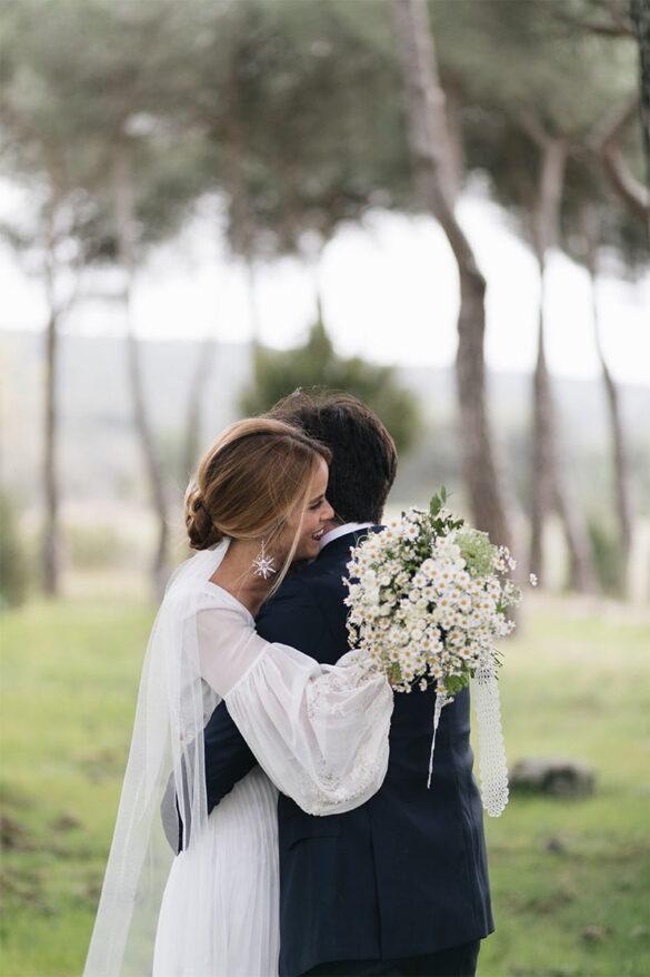 Ramo de novia con margaritas