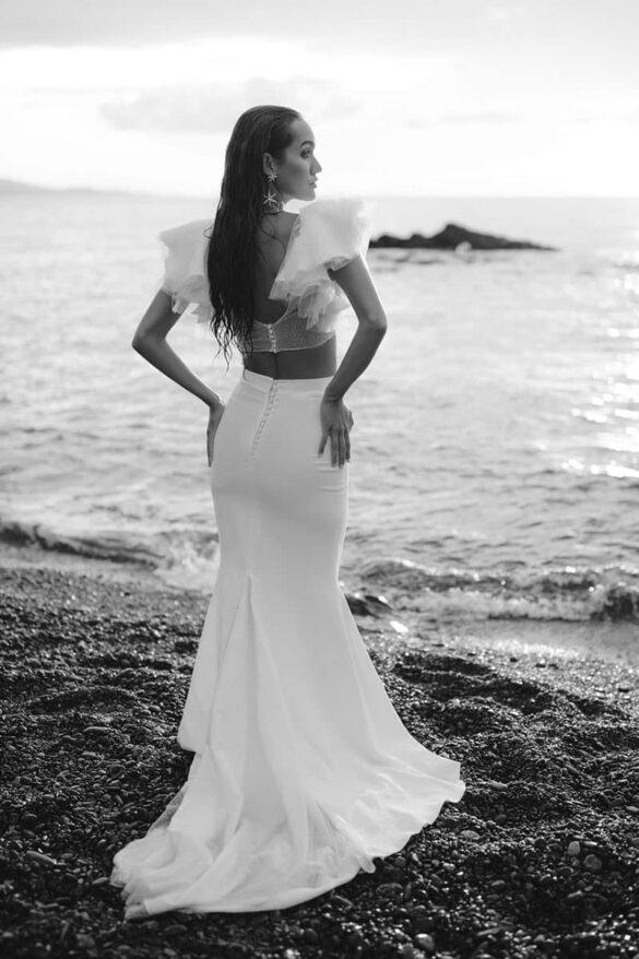 Conjunto top y falda de RIme Arodaky para novia 2021