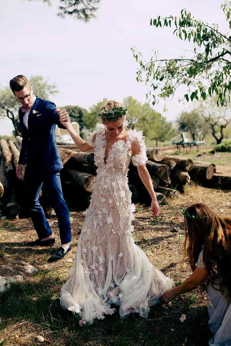 Vestido de novia estilo Hollywood