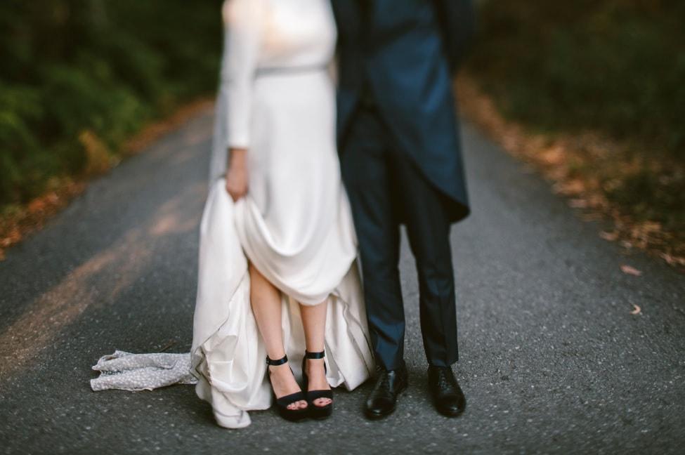 Zapatos de novia de color azul de Miu Miu