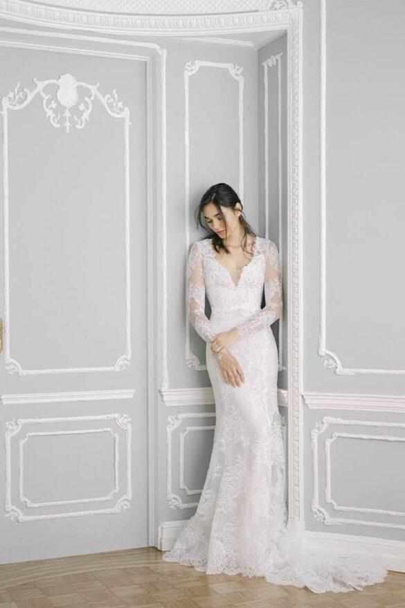 Vestido de novia de Monique Lhuillier colección otoño 2021