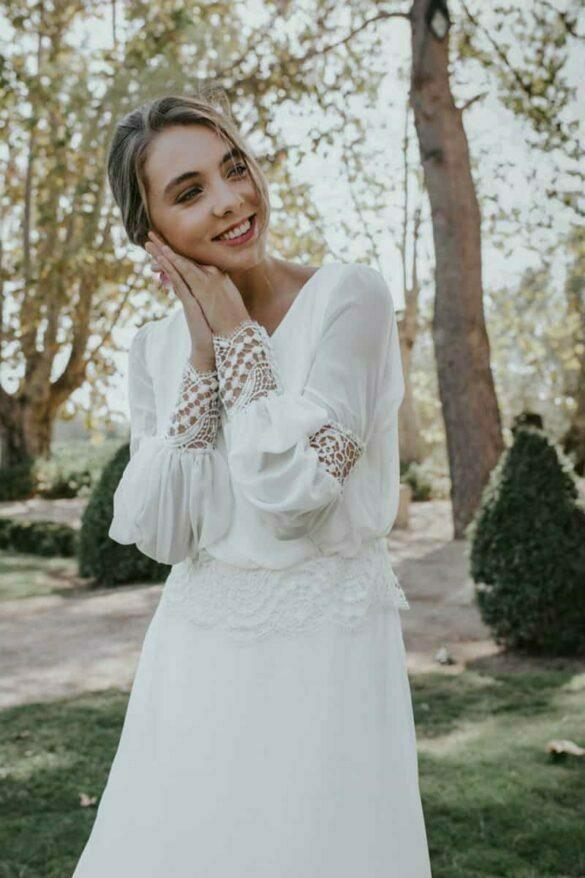 Sara Omatos vestido de novia 2021