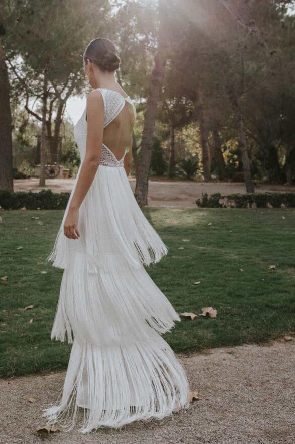 Vestido de novia de sara omatos colección 2021 musas