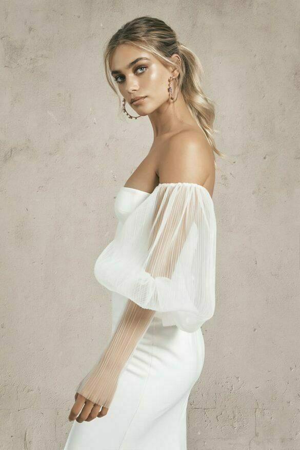 Mangas en tul para combinar vestidos de novia colección 2021 de Vagabond Bridal