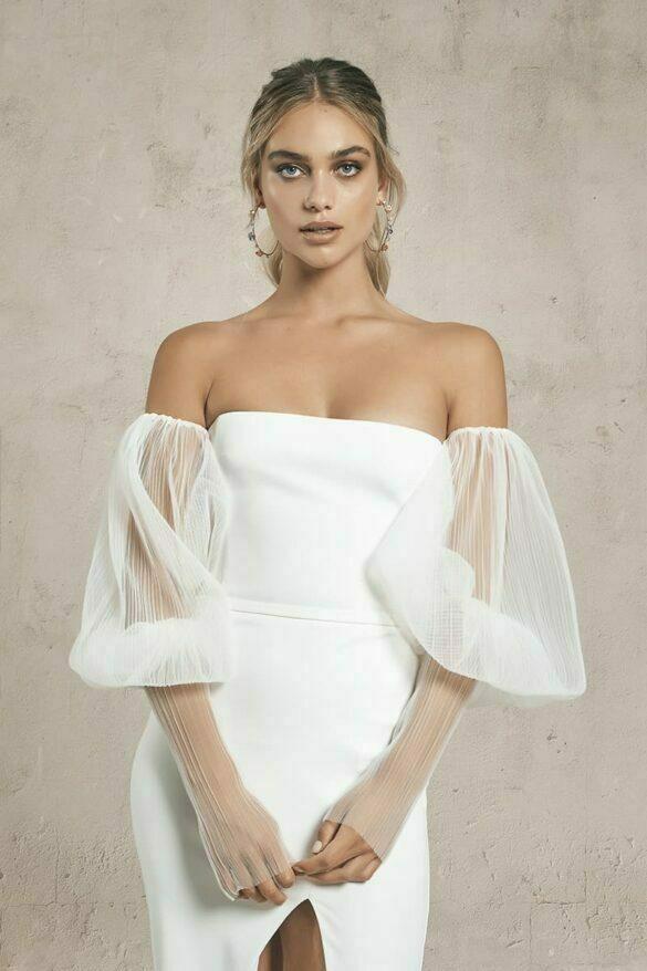 Mangas en tul vestidos de novia colección 2021 de Vagabond Bridal